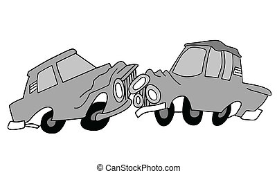 drawing of the cars on white background, vector illustration