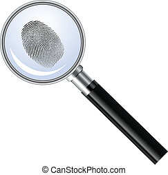Magnifying glass searching