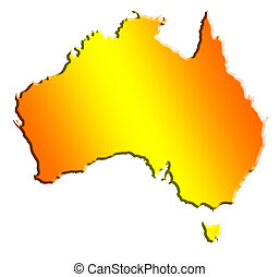 australian continent - illustration of the australian...