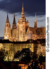 Prague Castle at night