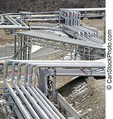 pipe line in petrochemical plant