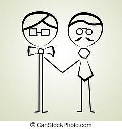 gay men wedding couple - an illustration of a gay men...