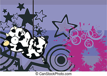funny cow cartoon background6