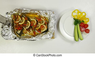 Prepared Baked Fish - Food Preparation - Baked Fish Shoot...