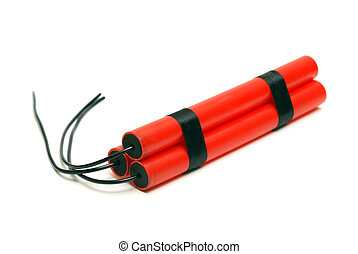 Dynamite - An isolated shot of some bundled dynamite.