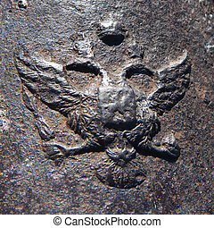 State Emblem of Russian 19th century, iron castings