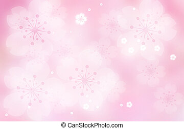 Cherry Blossom Abstract Lights Background