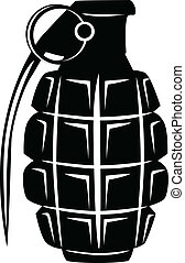 grenade - Vector image of an army manual grenade