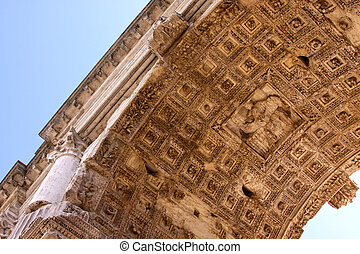 Arch of Titus Soffit - The soffit of the Arch of Titus, in...
