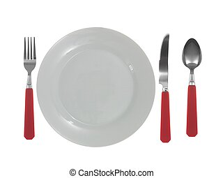 Dinner Setting - A dinner setting with cutlery and plates