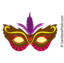 Mardi Gras Mask 1 - A mardi gras mask, illustrated with...