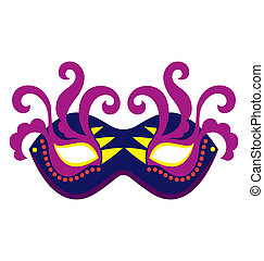 Mardi Gras Mask 2 - A mardi gras mask, illustrated with...