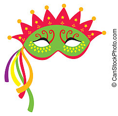 Mardi Gras Mask 3 - A mardi gras mask, illustrated with...