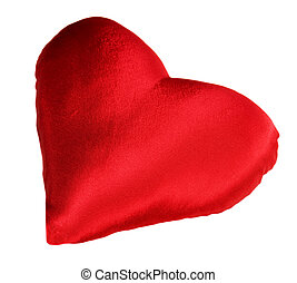 Red pillow as heart - Red pillow with heart shape
