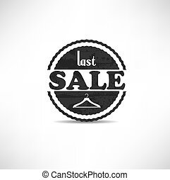retro vintage grunge label. Last Sale