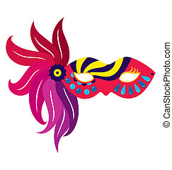 Mardi Gras Mask 5 - A mardi gras mask, illustrated with...
