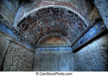 Pompeii - A view of excavations of Pompeii