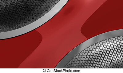metal grid wave - abstract metal background