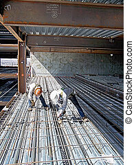Ironworker Rebar Layers - This picture taken with a 4 mp...