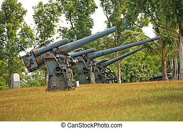 Battery Guns on Corregidor Island, Philippines