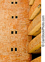 The Old brick wall of old building