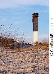Sullvans Island Lighthouse at Sunset - Among the last...