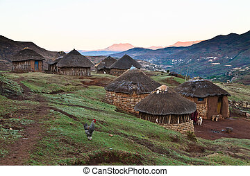 Primitive mountain village in beautiful light - Small...