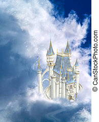 Fairytale Castle - A Dreamy Fairytale Castle In The Clouds!