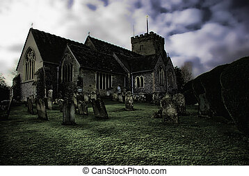 ghostly church