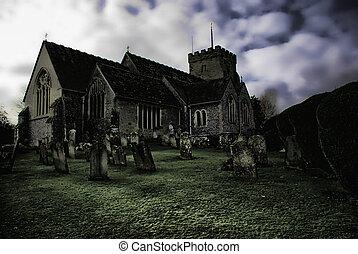 ghostly church