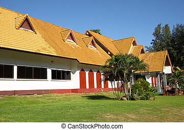 Yellow roof building of public museum.