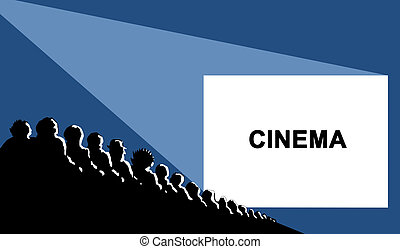 cinema, vector illustration