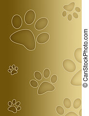 Paw print - Colored paw print border
