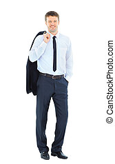 Portrait of a business man isolated on white background