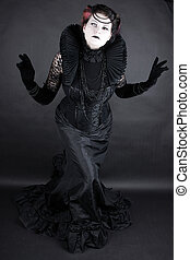The Dark Queen - Woman dressed up in gothic style as dark...