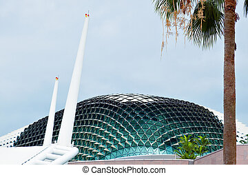 Roof of the concert Hall in Singapore