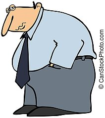 Man Feeling Depressed - This illustration depicts a man...
