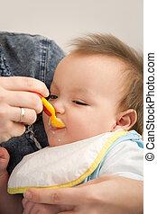 bebê, comer