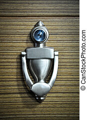 Metal door handle - Wooden doors and metal door handle