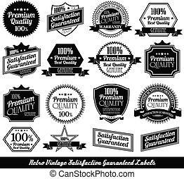premium quality Labels with retro design