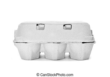 egg carton on a white background