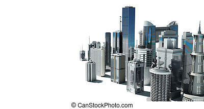 Futuristic city - 3d rendered illustration of a futuristic...