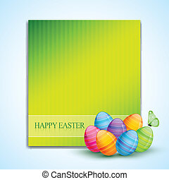 colorful easter eggs - vector colorful easter eggs with...