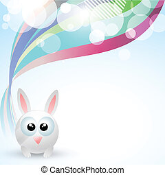 cute rabbit - vector cute rabbit with space for your text