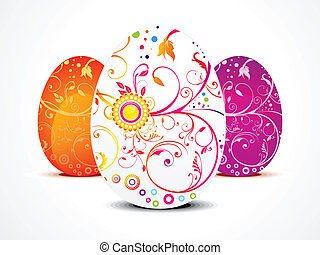 abstract ester egg in floral vector