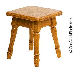Small wooden chair - Small wooden low brown chair