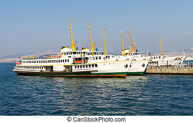 Ferry Boats - Ferries Boats from Princes Islands, Istanbul