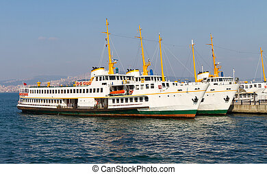 Ferry Boats - Ferries Boats from Princes' Islands, Istanbul