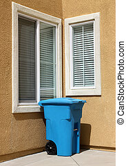 Garbage Can - Clean garbage can in urban house