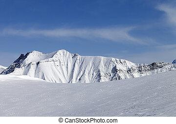 Snowy mountains. Caucasus Mountains, Georgia, region...